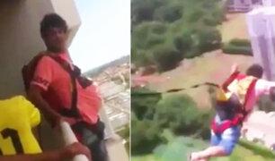 Brasil: compró paracaídas por internet y se tiró desde balcón de edificio