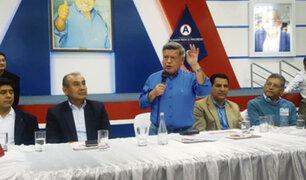 Trujillo: César Acuña reapareció y presentó candidatos a las alcaldías