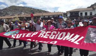 Cusco: docentes en huelga no llegaron a acuerdo con Minedu