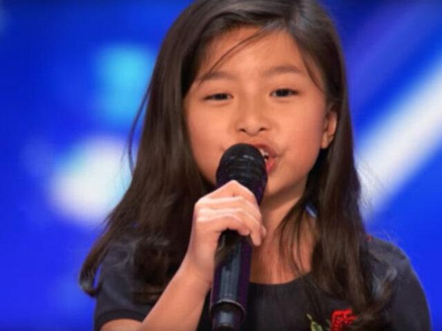 EEUU: niña impresiona al jurado al interpretar tema de Titanic