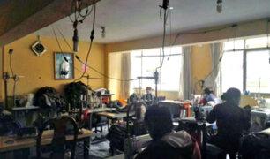 Chiclayo: hallan a trabajadores encerrados con candados en taller de confecciones
