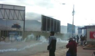 Cusco: docentes en huelga intentaron tomar aeropuerto Velasco Astete