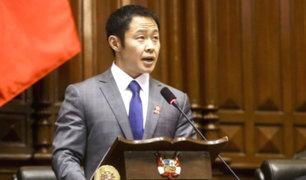 Kenji Fujimori pide salida del contralor Edgar Alarcón