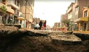 Los Olivos: hallan grandes forados en pistas y avenidas del distrito