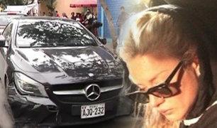 Hallan en La Victoria auto que usaron para asaltar a Leslie Shaw