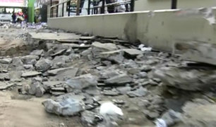 La Victoria: denuncian que obras en Jirón Unanue están paralizadas