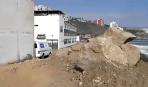 Barranco: construyen muro de contención para reforzar sede de Unidad de Salvataje