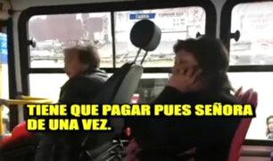 Rímac: usuaria de Bus Azul se niega a pagar pasaje y retrasa servicio