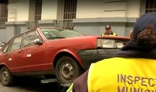 Envían a 65 vehículos al depósito por estacionarse en zonas rígidas del Centro de Lima