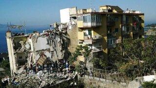 Varios desaparecidos tras derrumbe de un edificio en Italia
