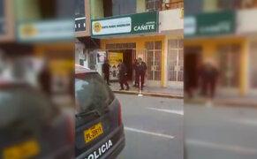 Tragedia en Cañete: sujeto ingresa a entidad financiera y mata a administradora