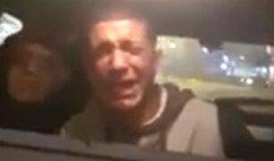 Delincuente que lloró al ser detenido fue puesto a disposición de la Fiscalía
