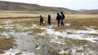 Más de 800 personas han resultado perjudicadas por heladas en Apurímac