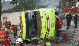 Ministerio Público presentó relación de fallecidos en accidente de Cerro San Cristóbal