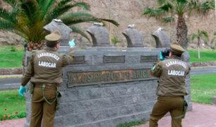 """Chile: decapitan bustos de monumento """"Héroes del Morro de Arica"""""""