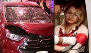 Cercado de Lima: conductora que hablaba por celular ocasiona accidente vehicular