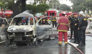 Vehículo repleto de balones de gas explota en San Isidro y deja cinco heridos