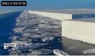 Antártida: uno de los icebergs más grandes de la historia se desprendió