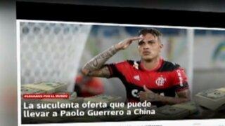 Paolo Guerrero no renovaría con Flamengo por millonaria oferta del fútbol de China