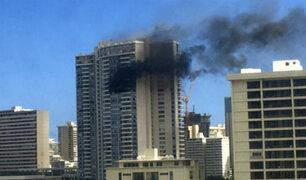 EEUU: al menos tres muertos deja incendio en edificio en Hawái