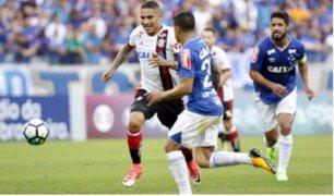 Paolo Guerrero: Flamengo igualó 1-1 ante Cruzeiro por el Brasileirao