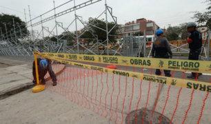 Desfile por Fiestas Patrias: cierran vías auxiliares de avenida Brasil para instalación de tribunas