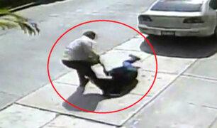 Surco: cámaras captan violento asalto a mujer
