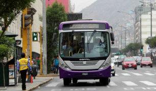 Transportistas de SJL realizarán paro contra corredor morado