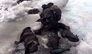 Suiza: hallan restos congelados de pareja que desapareció hace 75 años