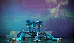 Niños del circo de Oro de Rusia deslumbran con sus acrobacias