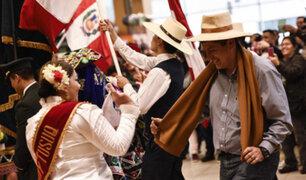 Aeropuerto Jorge Chávez: PNP recibe a turistas con danzas típicas