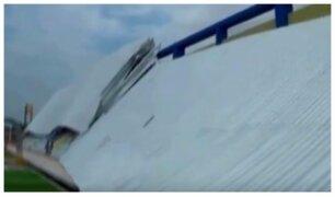 Tumbes: techo de estadio se derrumba antes de ser inaugurado