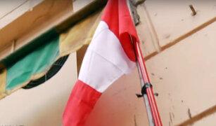 Fiestas Patrias: algunas viviendas lucen banderas en mal estado