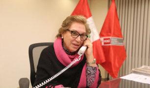 Ministra Ana María Romero también dejaría Gabinete Ministerial