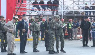 Ensayos previos para la Gran Parada Militar en la avenida Brasil