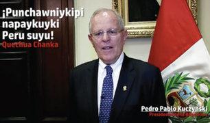 Fiestas Patrias: PPK y ministros envían saludos en diversas lenguas originarias