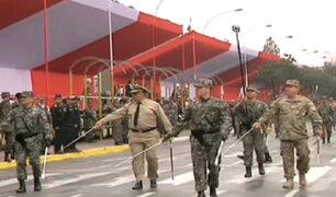 Fuerzas Armadas y Policía Nacional realizaron último ensayo previo a la Parada Militar