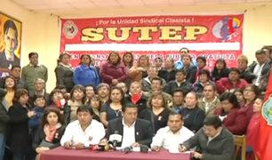 SUTEP prepara pliego de reclamos para negociar con el gobierno