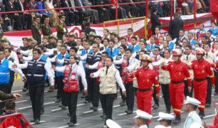 Agrupamiento Una Sola Fuerza desfiló en la Gran Parada Militar