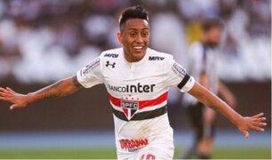Christian Cueva anotó en el triunfo de Sao Paulo por 4-3 ante Botafogo