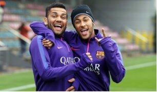 Neymar: su excompañero Dani Alves le pide que sea valiente