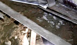 Rímac: mujer cava túnel bajo casas de sus vecinos para buscar oro