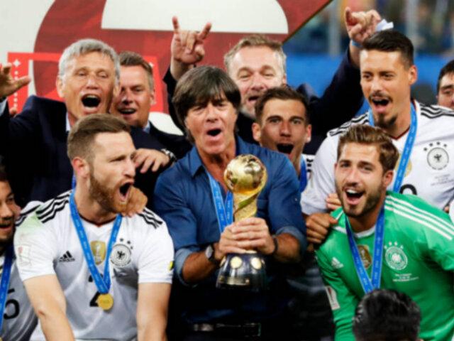 Alemania venció a Chile y se coronó campeón de la Copa Confederaciones