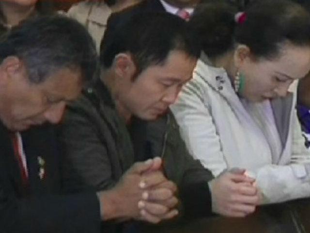 Kenji Fujimori asistió a misa de salud para su padre Alberto Fujimori
