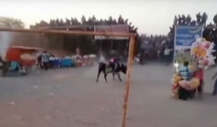 Ica: toro escapa de ruedo y causa pánico en fiesta patronal