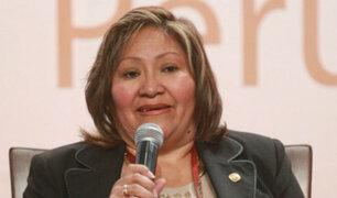 """Choquehuanca confesó ser """"provida"""" al ser consultada sobre el aborto"""
