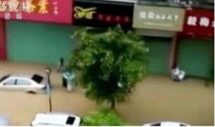 China: miles de afectados por el paso del Tifón Haitang