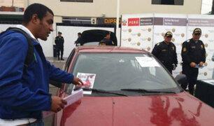 "Capturan a banda de ""robacarros"" que operaban en distritos del sur de Lima"