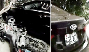 Santa Beatriz: auto se estrella contra fachada de vivienda frente al Estadio Nacional
