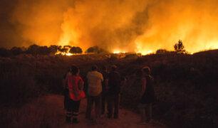 España: incendio forestal provoca estragos en localidad de Verín